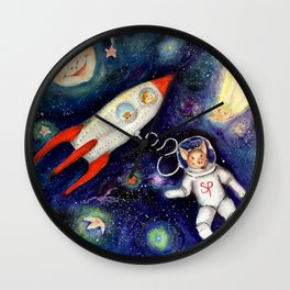 Ground Control to Super Pig Wall Clock