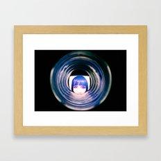 Girl in the Glass Framed Art Print