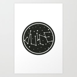 Juice Galaxy Art Print