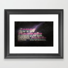 Never Sleep / Lets Rokk Horizontal Framed Art Print