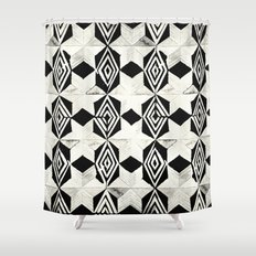 Tribal Shibori Stars Black and Cream Shower CurtainStroke Shower Curtains   Society6. Black And Cream Shower Curtain. Home Design Ideas