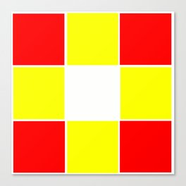 Team Colors 3....yellow ,red Canvas Print