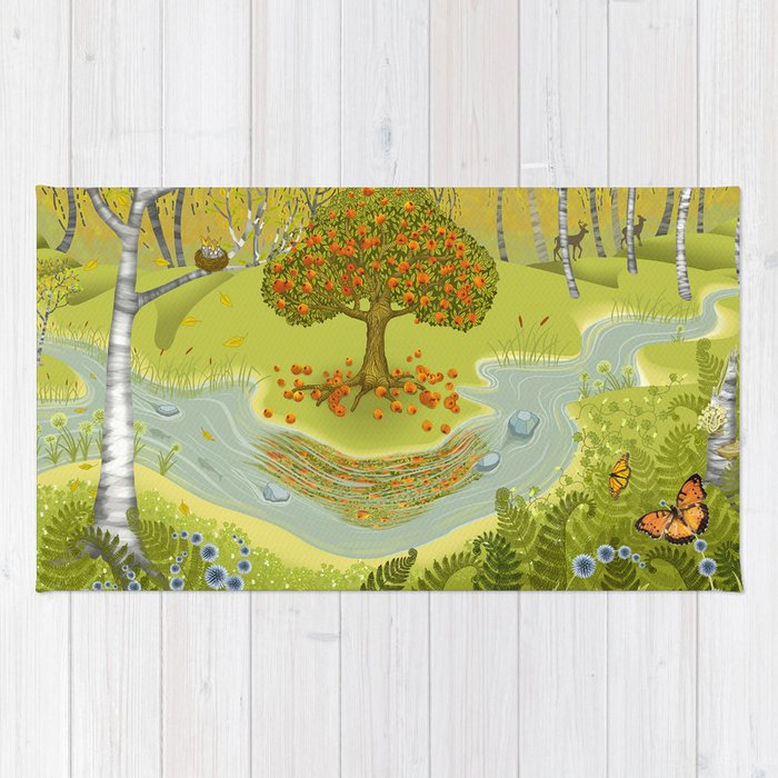 Magic Green Forest Rug
