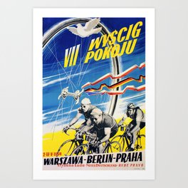 Vintage Polish Road Race Poster Art Print