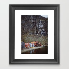 frozen water at Frafjord, Norway Framed Art Print