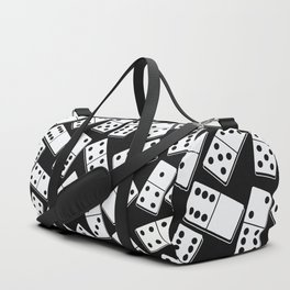 Black and white domino seamless pattern Duffle Bag