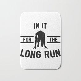 Athletics love marathon long  Run gift Bath Mat