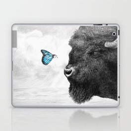 Bison and Butterfly (square format) Laptop & iPad Skin
