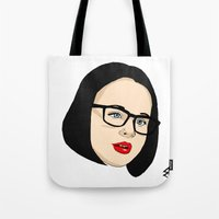 ghost world Tote Bags featuring Ghost world by Bleachydrew