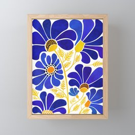 The Happiest Flowers Framed Mini Art Print
