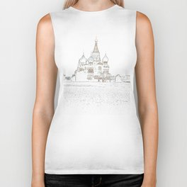 Saint Basil's Cathedral (on white) Biker Tank
