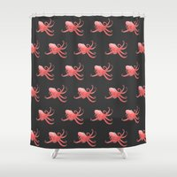 octopus Shower Curtains featuring Octopus by mailboxdisco