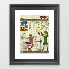 hero-glyphics: Hyrule History Framed Art Print