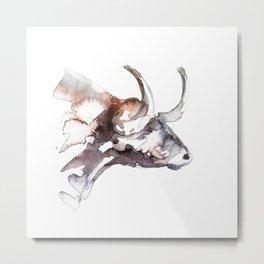 Bull / Abstract animal portrait. Metal Print