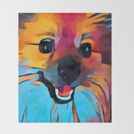 Pomeranian 2 Throw Blanket
