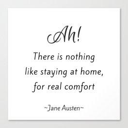 Jane Austen - Home Canvas Print