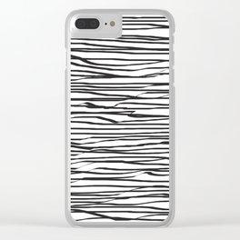 Striped Clear iPhone Case