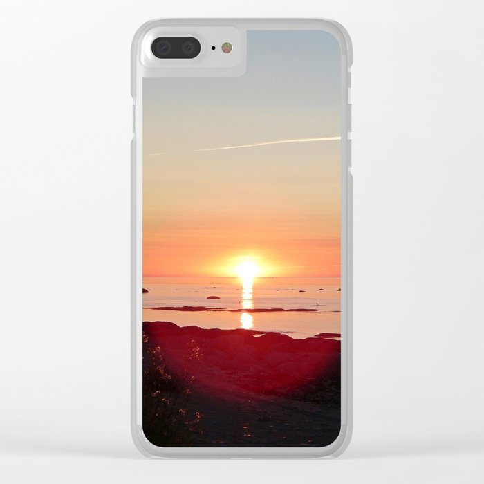Kayak and the Sunset Clear iPhone Case
