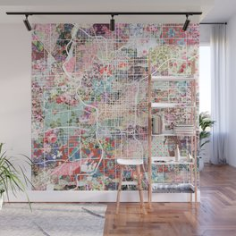 Indianapolis map Wall Mural