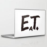 eat Laptop & iPad Skins featuring EAT by Masahisa  Saito