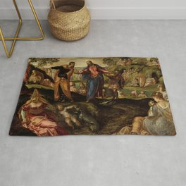 """Tintoretto (Jacopo Robusti) """"The Miracle of the Loaves and Fishes"""" Rug"""
