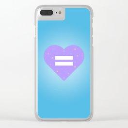 Tic Tac Heart Clear iPhone Case
