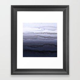 WITHIN THE TIDES BLUE Framed Art Print