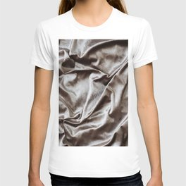WOKE UP LIKE THIS - abstract luxury shiny texture, modern, monochrome T-shirt