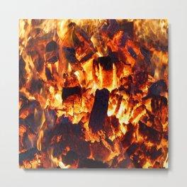 flame heat flammable burn bonfire Metal Print