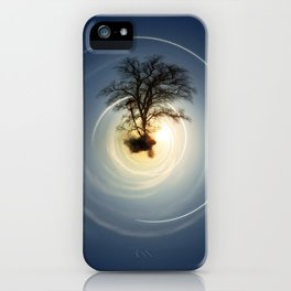 Tiny Planet 5 - The Last Lampost iPhone Case