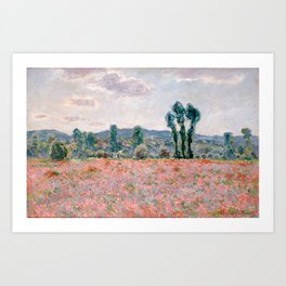 Poppy Field in Giverny by Claude Monet Art Print