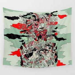 UNINVITED GARDEN Wall Tapestry