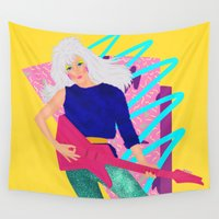 jem Wall Tapestries featuring Jem by Camila Fernandez