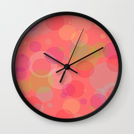 Bubblegum Bokeh Wall Clock