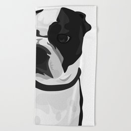 Tucker the Boston Terrier Beach Towel