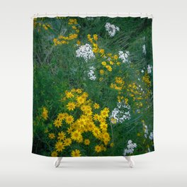Flowers On the Edge Shower Curtain
