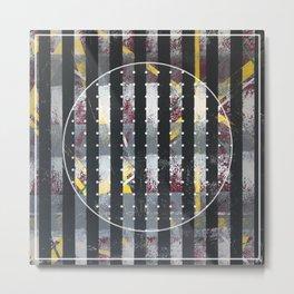 Polarized - dot circle graphic Metal Print