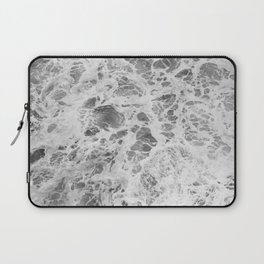 The Waves (Black and White) Laptop Sleeve