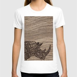 Wood Rhino Black T-shirt