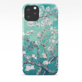 Vincent Van Gogh Almond Blossoms Turquoise iPhone Case