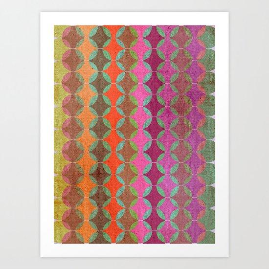 Colour Harmonies Art Print