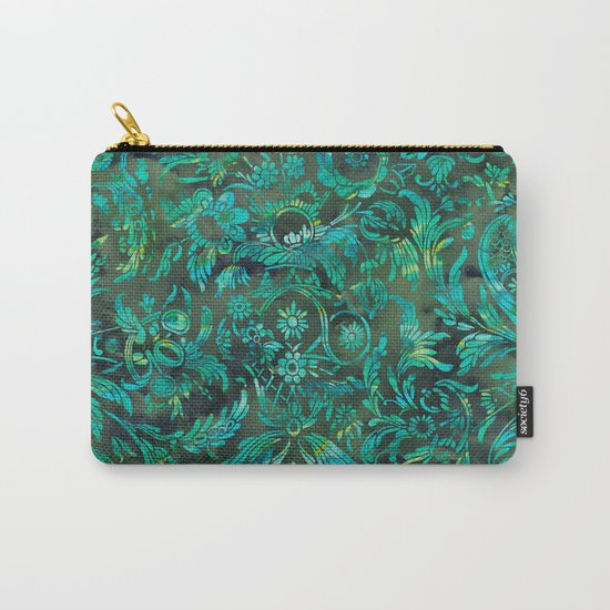 Watercolor Damask Pattern 05 Carry-All Pouch