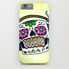 Sugar Skull with Headphones Zombie by RonkyTonk Slim Case iPhone 6s