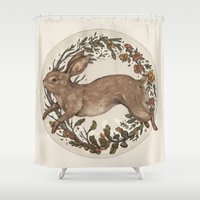 rabbit Shower Curtains featuring Rabbit by Jessica Roux