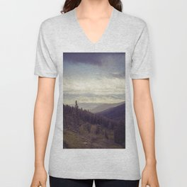 Above The Mountains Unisex V-Neck