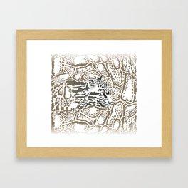 Leopard Clouded background Framed Art Print
