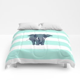 The Green Elephant Comforters