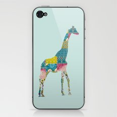 Patchwork Giraffe iPhone & iPod Skin