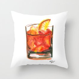 Negroni Cocktail Hour Throw Pillow