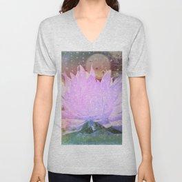 Raining Lonesome Flower Unisex V-Neck